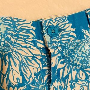 Lilly Pulitzer Shorts - Lilly Pulitzer Blue Cotton Callahan Shorts sz 6